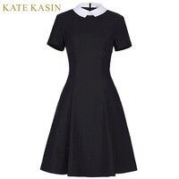 Kate Kasin Office Dresses Women 2017 Spring New Fashion Short Sleeve Pencil Dress Ladies Casual Work