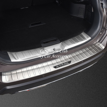 Stainless Steel Rear Bumper Protector Tail Door Sill Trunk Guard Cover Trim For Nissan X-Trail Rogue T32 2017 2018 Car Accessory