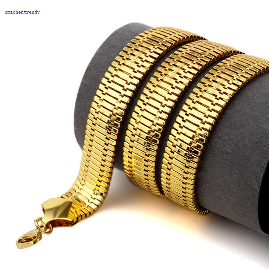 Ожерелье в елочку мужское гальванизированное колье стиле хип