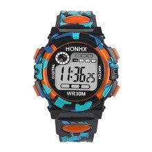 Детские часы Irissshine для мальчиков и девочек, многофункциональные водонепроницаемые спортивные электронные цифровые наручные часы, детские часы с будильником, A10