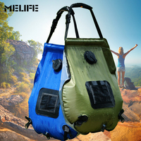MELIFE Outdoor camping travel Solar Shower Water Bag Heated camp shower 20L Hiking Utility Water Storage PVC Shower Water Bag