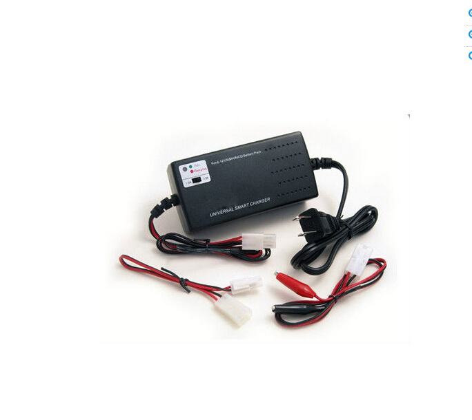 Hot OEM Highly Quality Used For RC Car/Airplane&Airsoft Gun Toys Universal Smart Charger For NiMH/NiCd Battery Packs (6V - 12V)