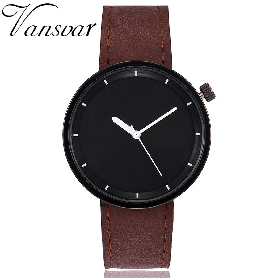 Vansvar Brand Fashion Women Wristwatches Simple Style Ladies Leather Quartz Watch Female Clock Relogio Feminino Montre Femme цена и фото