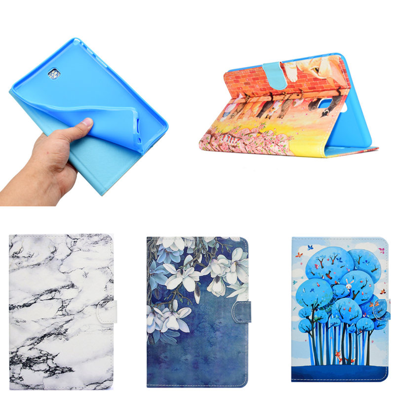 Printing PU Leather Soft Back Case for Samsung Galaxy Tab A 8.0 T350 T355 SM-T355 P350 P355C P355 8'' with Wallet Tablet Cover luxury tablet case cover for samsung galaxy tab a 8 0 t350 t355 sm t355 pu leather flip case wallet card stand cover with holder