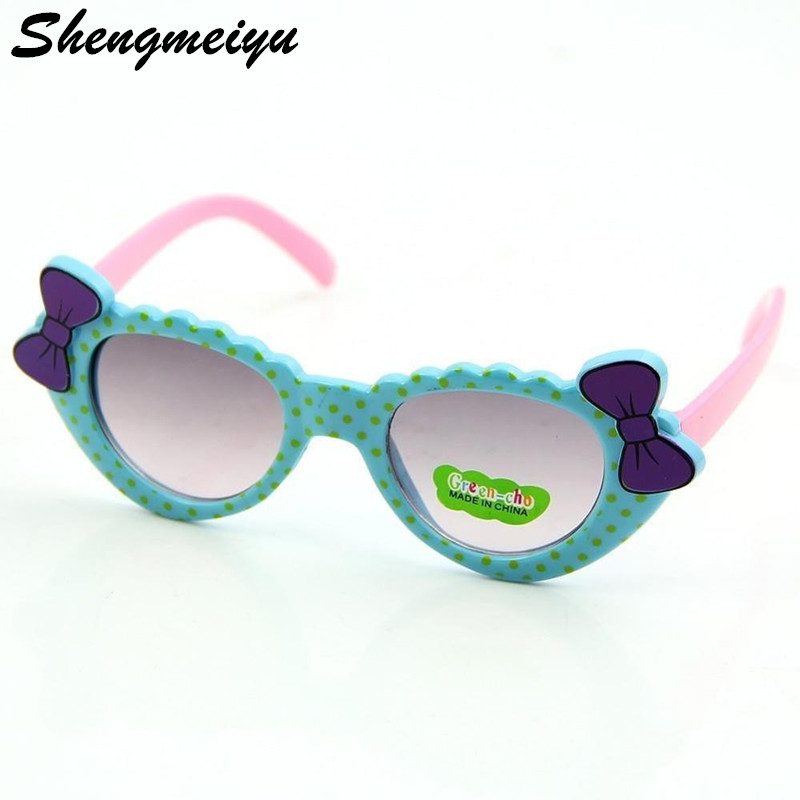 2018 Children's Eyewear Love Heart Girls Kids Sunglasses Summer UV400 Plastic Sun Glasses For Girls