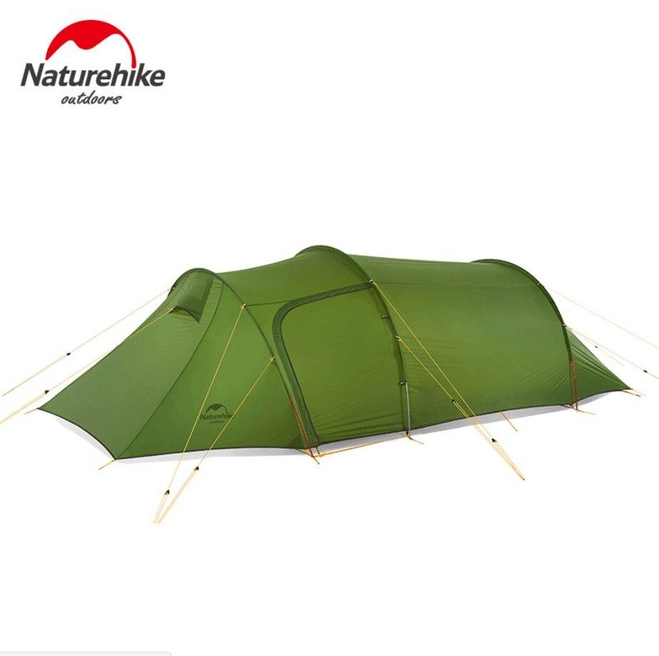Naturehike 2018 Новый сверхлегкий Opalus туннель двойной палатка Открытый Кемпинг пеший Туризм 3 человек