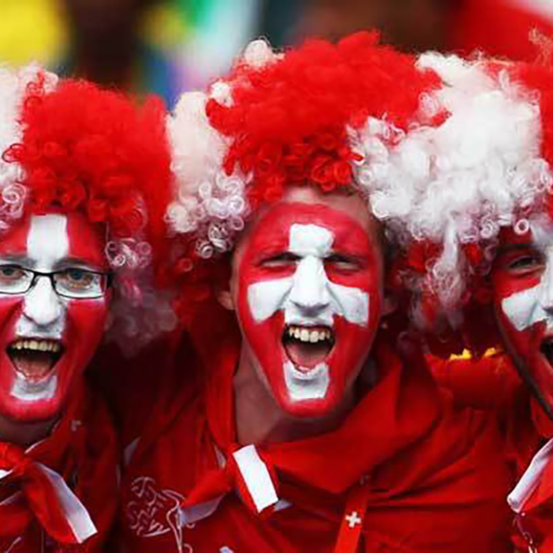 Russia Soccer World Cup Football Fans Wig National Flag Color Cap World Cup Cheerleading Party Carnival Day Wigs