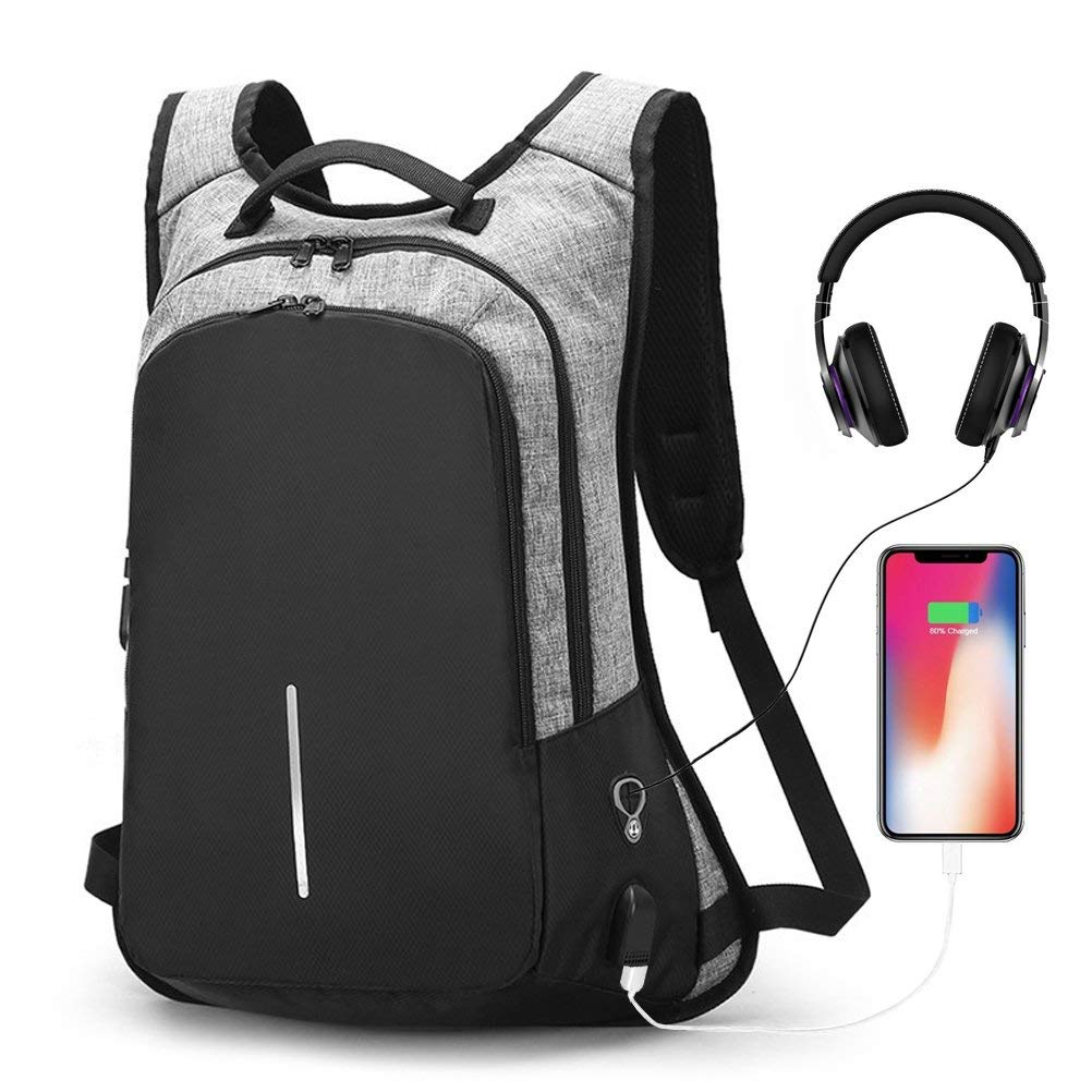 Teenager Backpacks Men Usb Chargeable Password Lock Anti-theft Backpacks School Bags Men Fashion Travel Backpacks Computer Bags