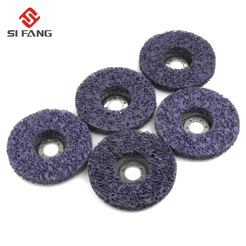 5Pcs 125mm 5'' Poly Strip Disc Wheel Paint Rust Removal Clean Grinding Wheel 125*22mm