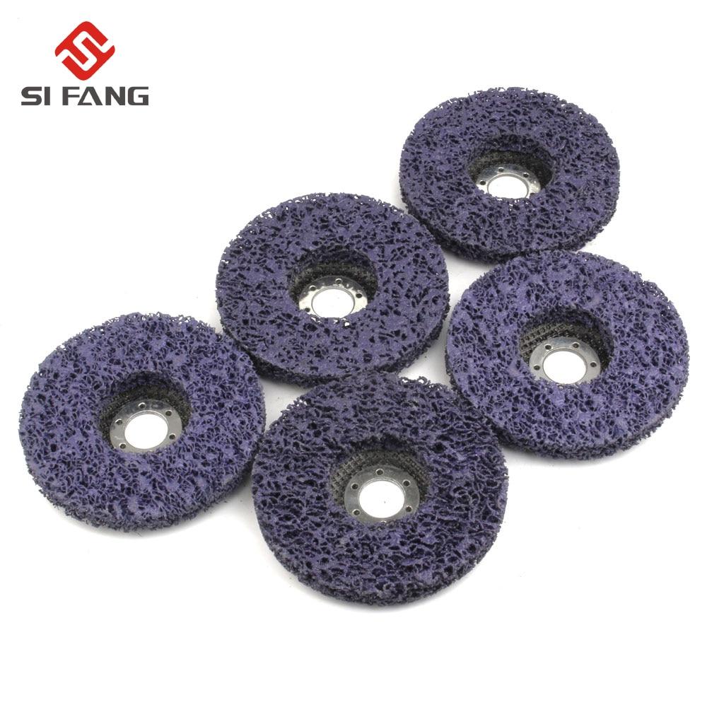 цена на 5Pcs 125mm 5'' Poly Strip Disc Wheel Paint Rust Removal Clean Grinding Wheel 125*22mm