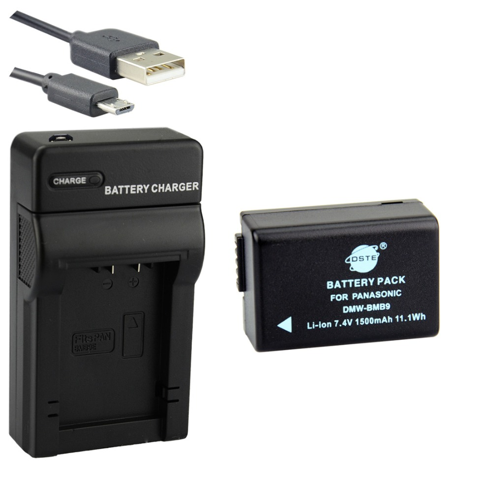 DSTE DMW BMB9E DMW BMB9 Battery with USB Charger for Panasonic DMC FZ40 FZ45 FZ47 FZ48 FZ100 FZ150 DC FZ80 dste battery charger for charger charger - title=
