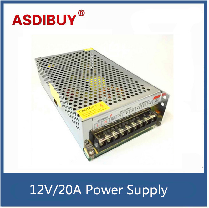 DC 12V 20A 250W LED Power Supply Charger AC100-240V to DC12V 20A switch power multi-use power supply for CCTV Camera CCTV System 4pcs 12v 1a cctv system power dc switch power supply adapter for cctv system