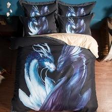 Cartoon fashion print bedding set Dragon fish tiger comforter sets duvet cover bed linen 160*210cm 200*230cm 220*240cm