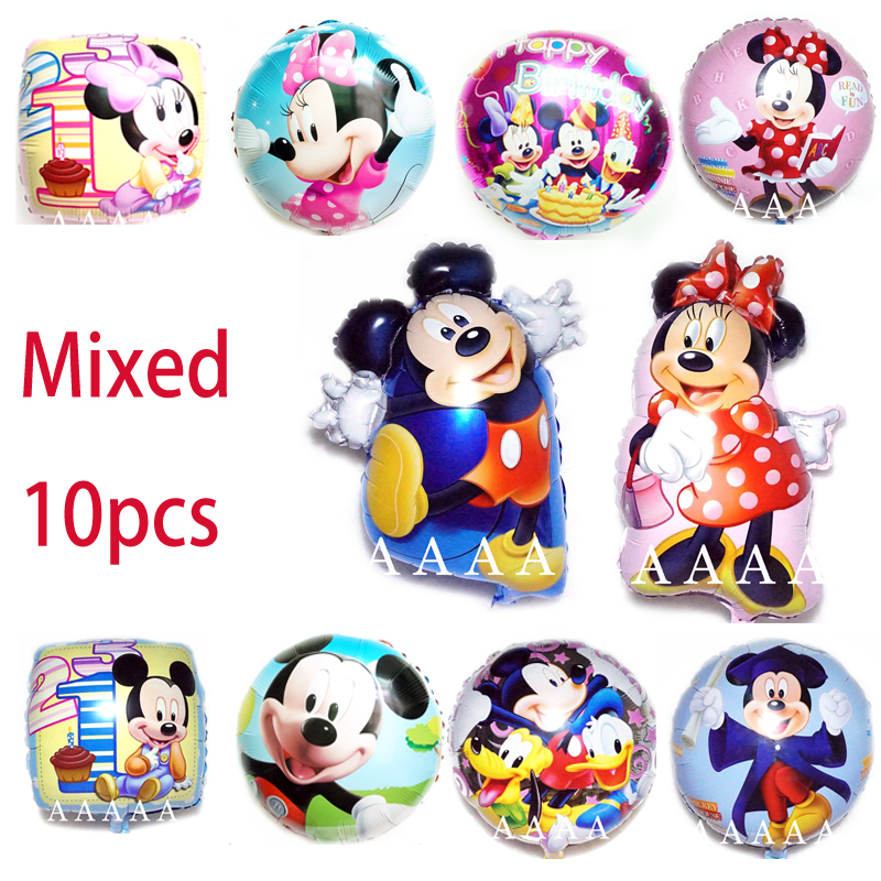10pcs/lot Dancing mickey minnie air balloons for micekey birthday party decoration helium balloons