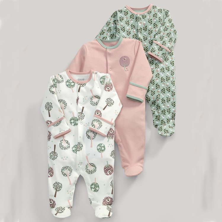 3pcs Newborn Baby Girl Clothes Cotton Baby   Rompers   Children's Fashion vetement enfant fille Kid Winter Jumpsuit Boy Baby Apparel