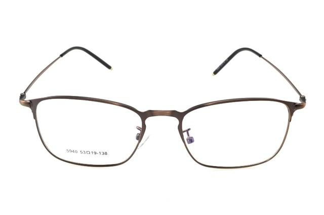 227856c03be Titanium Alloy Bronze Retro Eyeglasses Frame Optical Custom Made  Prescription Myopia Glasses Progressive Photochromic -1 To -10