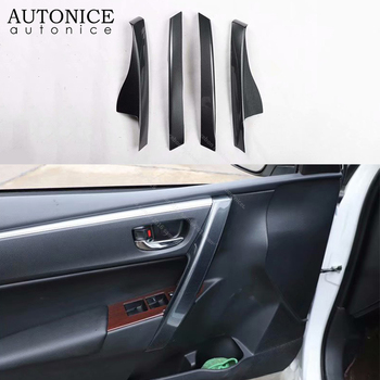 4PCS Carbon Fiber Color Side Door Handle Cover Trim FIT For Toyota Corolla 2014-2018 ABS