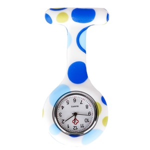 Модные красочные силиконовые медицинские медсестры часы портативная брошь Fob карманные кварцевые часы висячая подвеска с зажимом Подарочн...