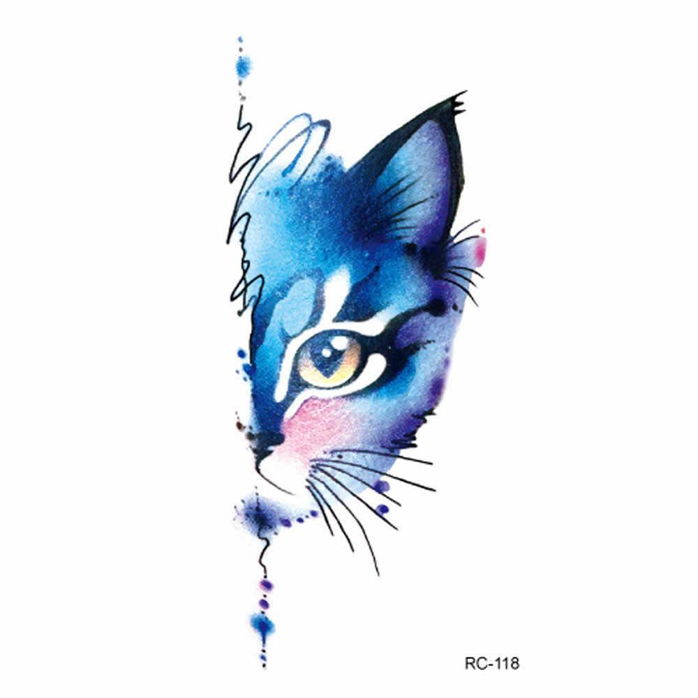 1 قطعة المؤقتة الوشم ملصق للماء نابض بالحياة جسم الحيوان القص وهمية الوشم فلاش ملصقات الوشم Tatuajes Temporales h