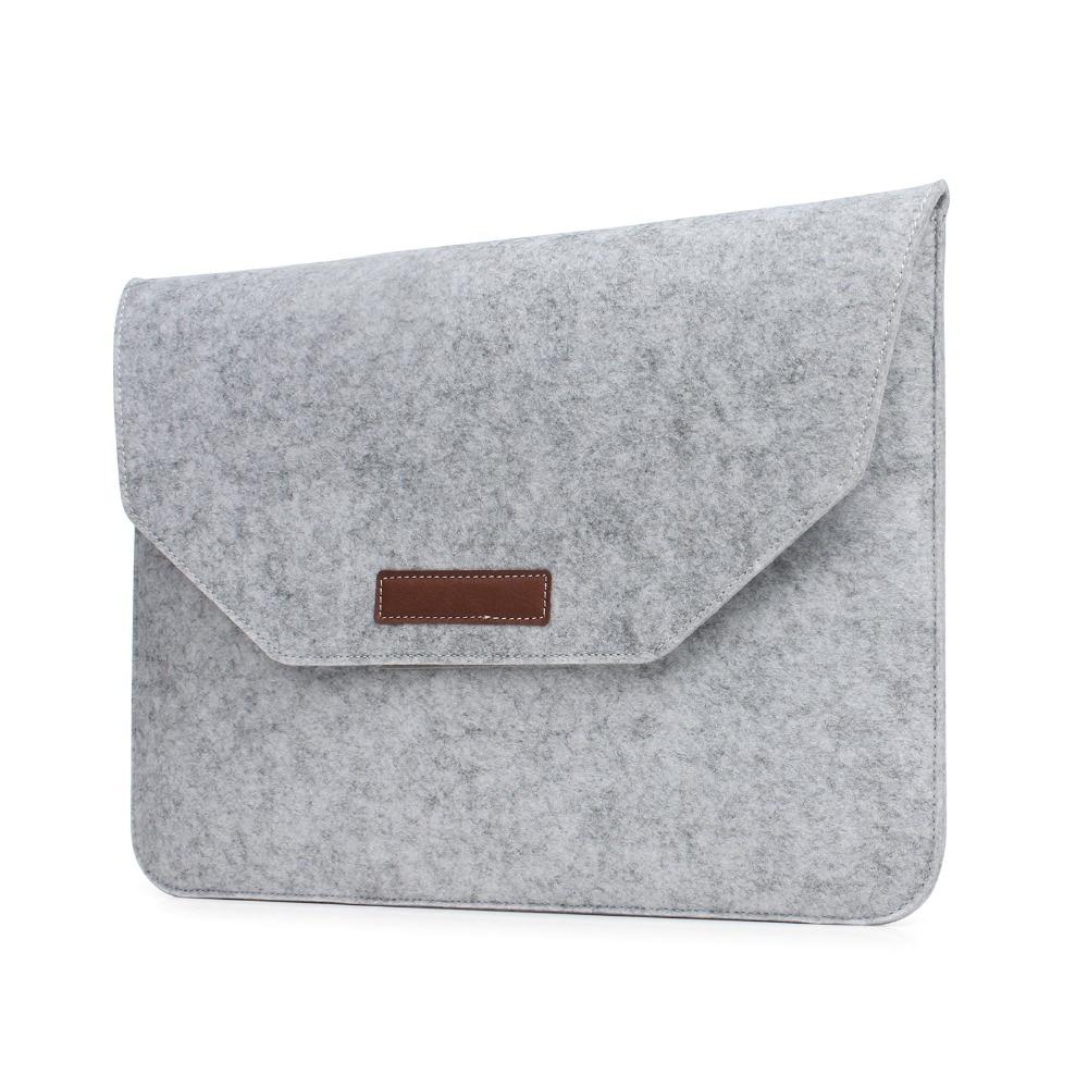 Laptop Sleeve Pouch Bag Voor Apple Macbook (10st) Luxe Retro Grijze - Notebook accessoires - Foto 1