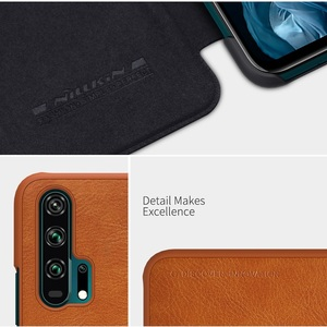 Image 5 - Dla Huawei Honor 20 skrzynki pokrywa 6.26 NILLKIN Vintage Qin odwróć pokrywa portfel PU skóra + PC dla Huawei Honor 20 Pro przypadku