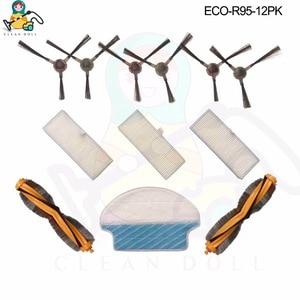Image 1 - Muñeca limpia Juego de cepillos 12 principales para mopa, paños Cepillo Lateral filtro HEPA para Ecovacs Deebot DR95 KTA R95 R97, piezas de limpiador al vacío