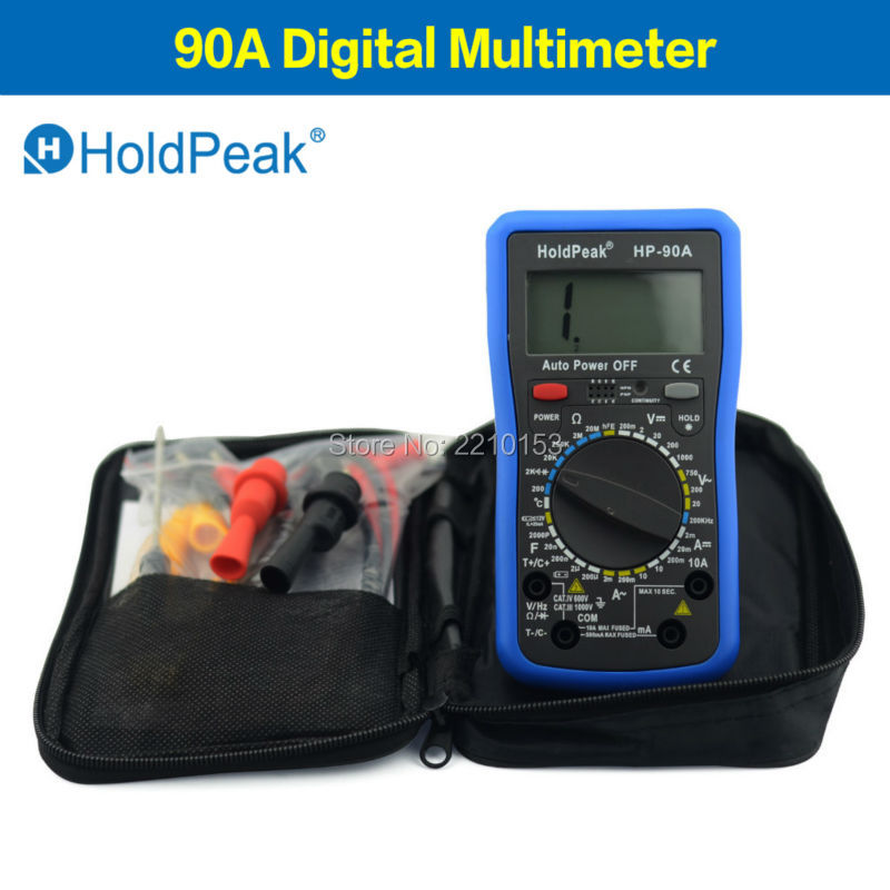 HoldPeak 90 series DC/AC Digital Multimeter Meter Diode and hFE Test Auto Power Off 90A mini multimeter holdpeak hp 36c ad dc manual range digital multimeter meter portable digital multimeter
