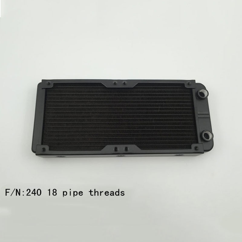 240mm G1/4 Computer Radiator Water Cooling for CPU LED Heatsink XXM8 5pcs lot pure copper broken groove memory mos radiator fin raspberry pi chip notebook radiator 14 14 4 0mm copper heatsink