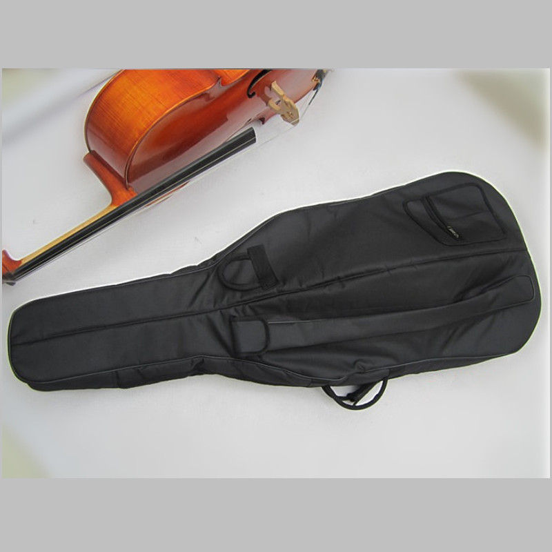 New Wholesale Professional portable thicker waterproof durable cello case soft gig cover bag full size 1/16 1/8 1/4 2/4 3/4 4/4 2 pcs of new tenor trombone gig bag lightweight case black