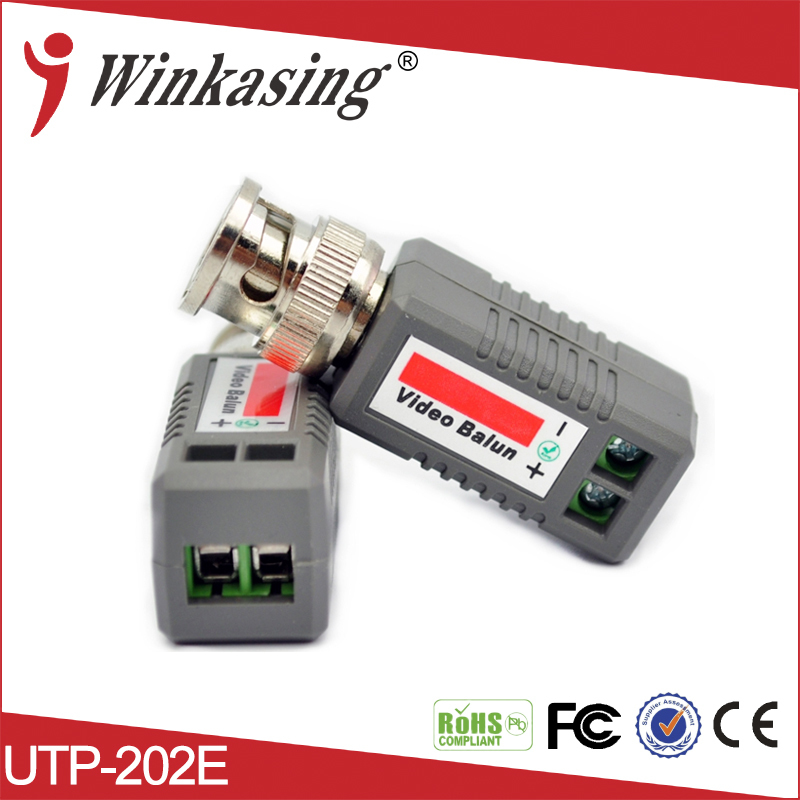 New UTP video balun single channel passive video balun Cat5 RJ45 Balun Transceiver CCTV Video power promotion new silver utp 4 channel passive video balun transceiver adapter