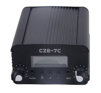 CZE-7C CZH-7C 7W 76-108mhz  FM stereo PLL broadcast transmitter hot sale wholesale