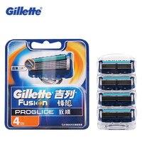 Gilette Fusion Proglide 4 Bits Shaving Razor Blades For Men Brand Shaver Blades Cuchillas De