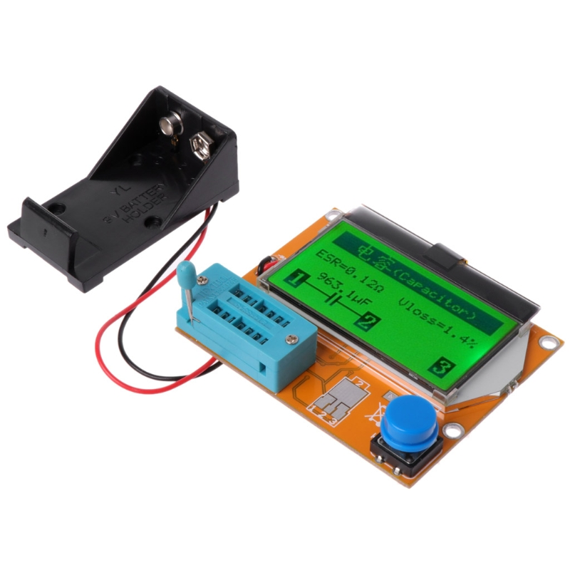 9V LCD Digital Transistor Tester LCR-T4 ESR Meter 12864 Backlight Capacitance