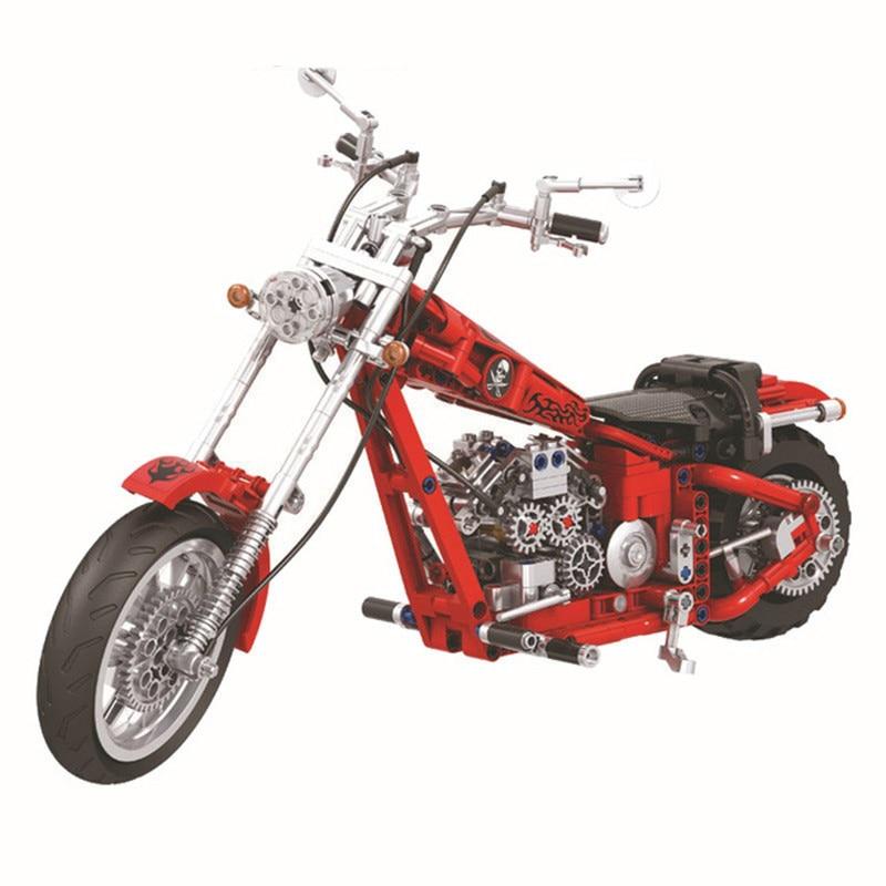 568pcs Diy Série Technic Cruzeiro Motocicleta Sermoido Motor Bike Bricks Building Blocks Brinquedos Para Crianças Grandes Presentes