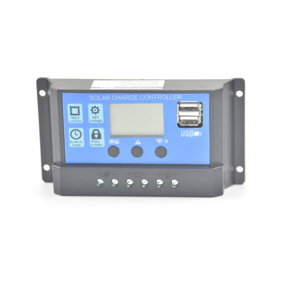 Accessories & Parts Chargers Popular Brand 30a Pwm Solar Panel Charge Controller 12v-24v Led Indicate The Batttery Capacity Off Grid Pv Controller Solar Aluminum Housing Unequal In Performance
