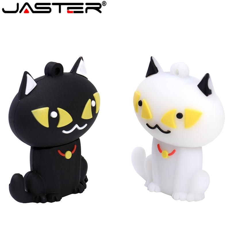 JASTER USB Flash Drive Cat Model Pen Drive Lovely Cat Flash Card 4gb 8gb 16gb 32gb 64GB Pendrive USB Stick Full Capacity