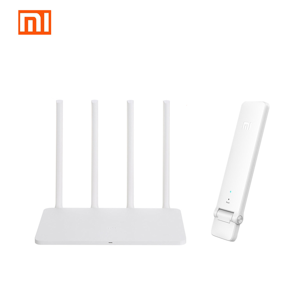 Xiaomi WiFi Router Repeater Set White 2.4Ghz & 5G Wireless 867Mbps 128MB SLC Flash ROM Router 3G And WiFi 300Mbps Repeater 2 xiaomi mi wifi router hd 1tb black
