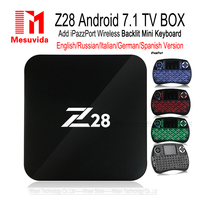 Mesuvida Z28 RK3328 TV Box Android 7.1 Max 2G 16G Quad Core 2.4 GHz M8s WiFi H.265 HDMI Media player PK X92 Pro Inteligentne Set Top Box