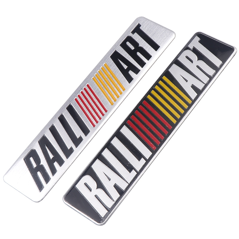 Aluminum alloy Car <font><b>Sticker</b></font> Emblem Badge Decal For Mitsubishi ralliart <font><b>Lancer</b></font> 9 <font><b>10</b></font> Asx Outlander 3 Pajero Sport L200 Car Styling image