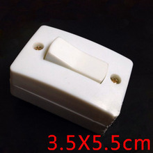 Bakelite 6A Surface Mounted Switch Wall Desktops Button Type Small bedside 3.5X5.5cm