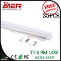 Free shipping 35pcs/lot integrated 18w T5 LED Tube light 900mm 3ft AC85-265V warm white natural white cold white