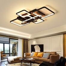 Современные светодиодные светильники потолочные для гостиной спальня Home крепеж для потолочных светильников AC85-265V алюминиевый белый/черный потолочный светильник