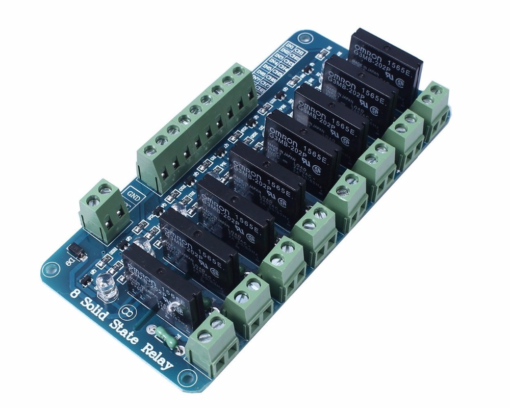 1PCS 250V 2A 8 Channel OMRON SSR G3MB-202P Solid State Relay Module For Arduino normally open single phase solid state relay ssr mgr 1 d48120 120a control dc ac 24 480v