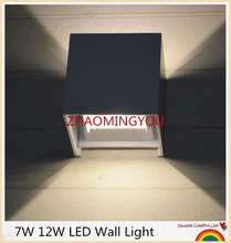 Waterproof 12W indoor outdoor Led Wall Lamp modern Aluminum Adjustable Surface Mounted Cube Led Garden Porch Light
