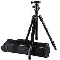 K&F CONCEPT KF TM2324 Professional Digital/Video Camera Tripod Portable 4 Sections Tripods With Ball Head+Bag For Canon Nikon