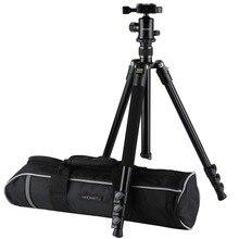 K & F concepto KF-TM2324 trípode de cámara Digital/vídeo profesional, trípodes portátiles de 4 secciones con cabeza de bola bolsa para Canon y Nikon