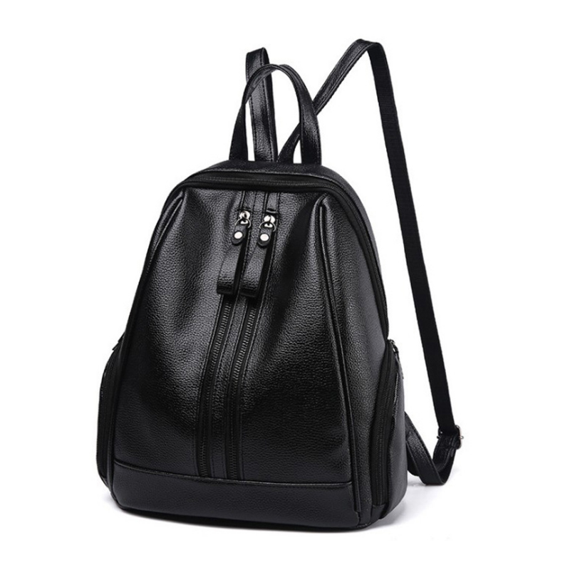 Homeda Pu Backpack Woman School/Travel/Shopping Knapsack Solid Simple Style Packsack  Lady Modern Mochila Q-112 xyx q simple