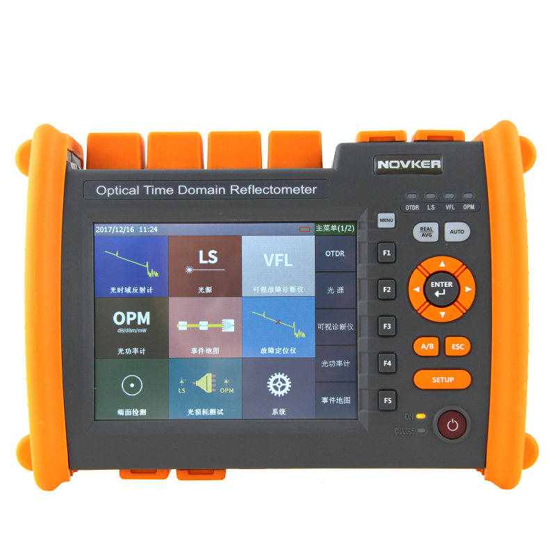high quality OTDR NK5600-SM-OTDR-1310-1550nm-30/32dB Optical Time Domain Reflectometer with VFL 5MW Visual Fault Locator ...