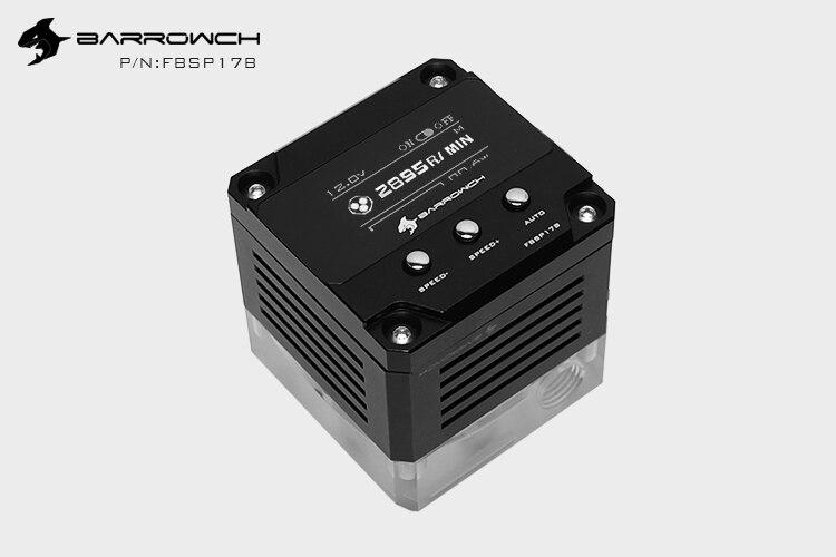 Barrowch FBSP17B, 17 Вт PWM интеллектуальный насос, OLED цифровой дисплей, DDC серия, ручной и ШИМ контроль скорости водяного Охлаждения Насос - Цвет лезвия: Black