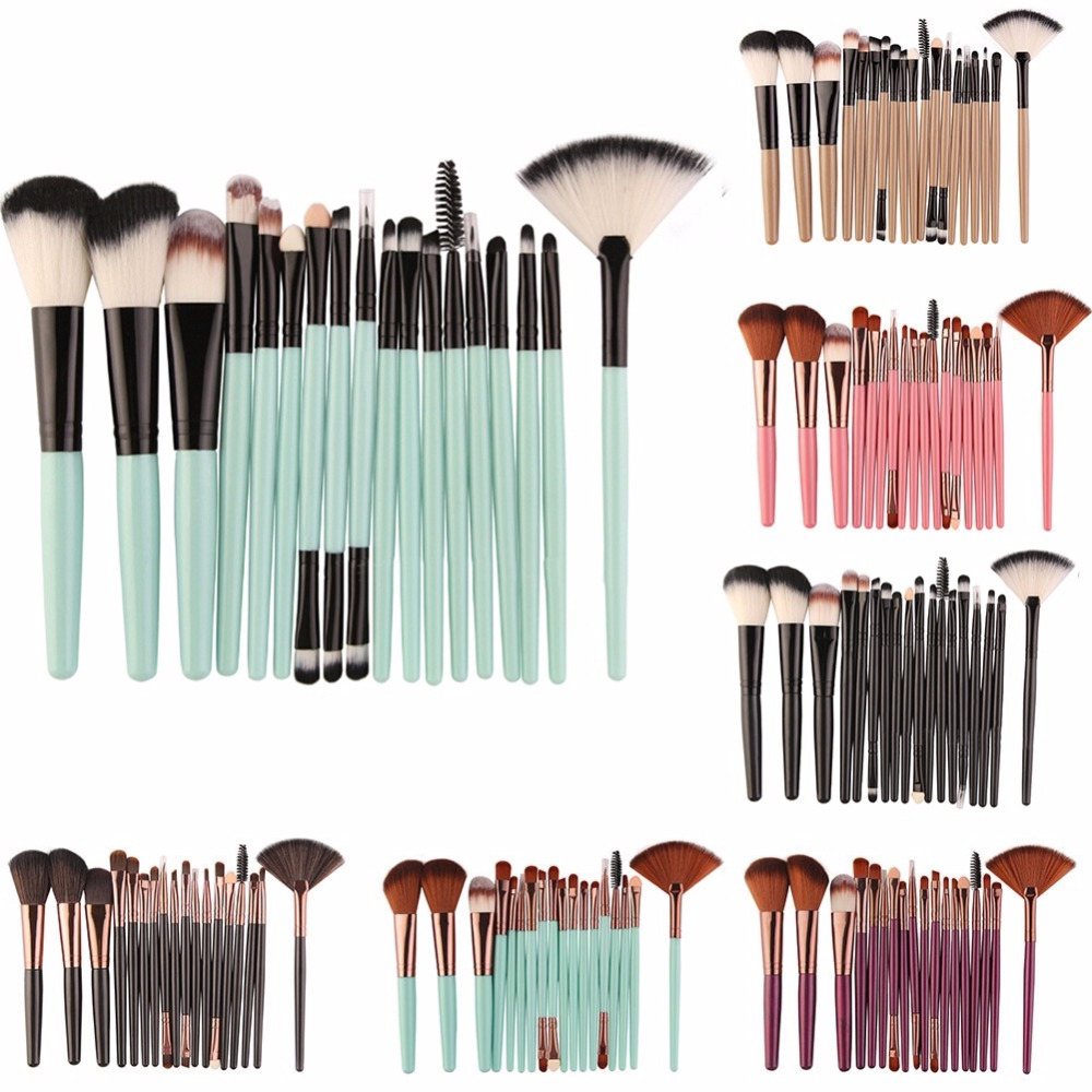 18 Pcs Makeup Brushes Set Professional Eye Shadow Eyeliner Blusher Foundation Powder Cosmetic Brush Blending Make Up Brush Tool g073 professional makeup brush goat hair ebony handle make up eye shadow smudge brushes cosmetic tool eye shadow blending brush